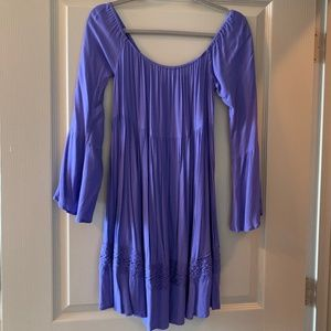 Purple Off-The-Shoulder Dress